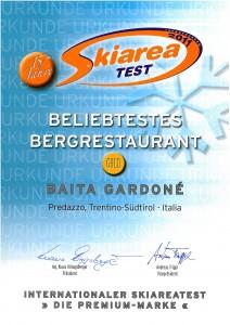 Auszeichnung beliebtestes Bergrestaurant