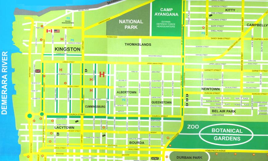 Map Of Georgetown Map of Georgetown – News Room Guyana Map Of Georgetown