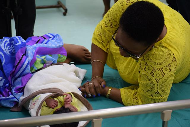 Albouystown mother gives birth to New Year's Day baby at