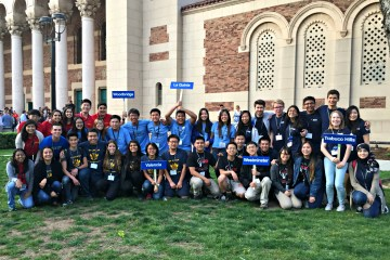 An image of Orange County students at the 36 annual California Academic Decathlon