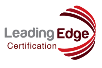 Leading Edge Certification logo red