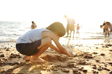 Stock photo child at beach