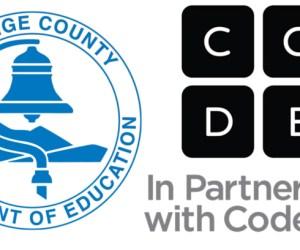 Code.org and OCDE logos