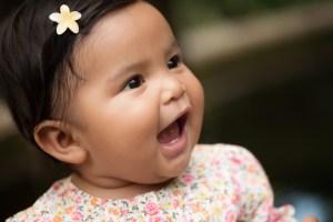 toddler girl talking