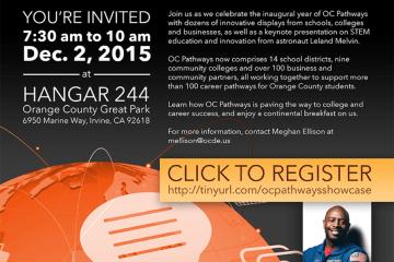 OC Pathways Showcase invitation