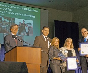 Representatives from OCDE and OC Waste & Recycling being jointly recognized in Sacramento