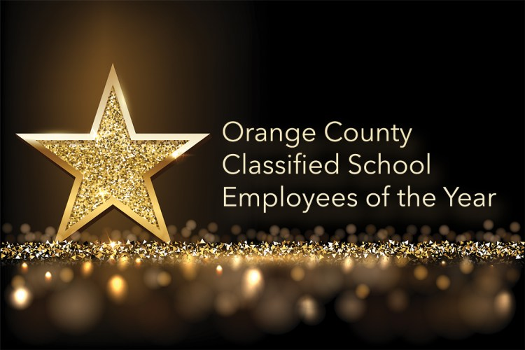 Title with star Orange County Classified School Employees of the Year