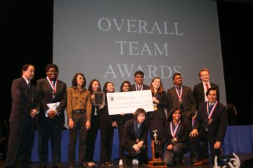 Woodbridge High Academic Decathlon team at the ceremony
