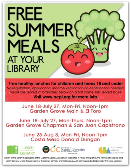 Lunch at the Library flier
