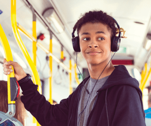 Student on bus