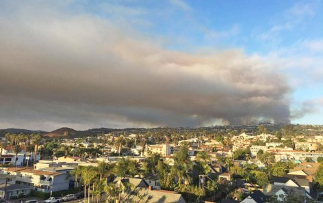 Smoke over Orange County