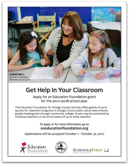 Education Foundation for Orange County flyer
