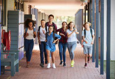 Kids running in hallway