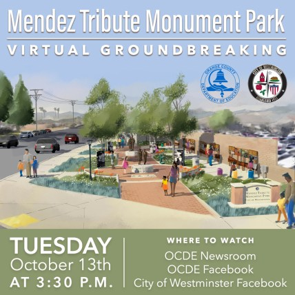 Mendez tribute monument groundbreaking graphic