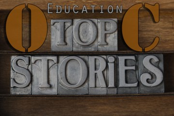 "A graphic that says ""OC Education Top Stories"""