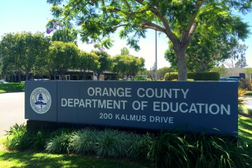 An image of the OCDE sign at the administrative campus on Kalmus