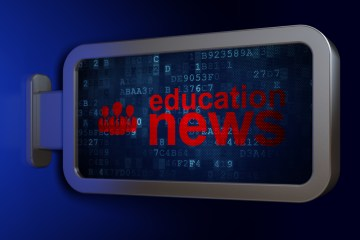 """A graphic that says """"education news"""""""