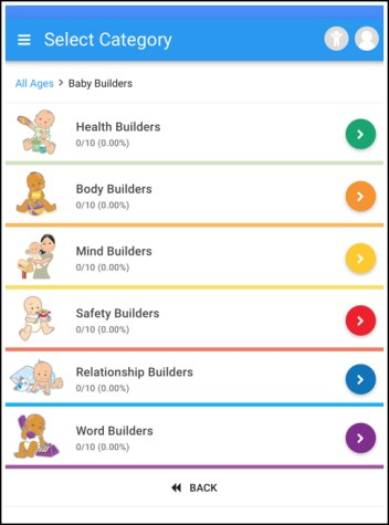 A screenshot of the Kid Builders app