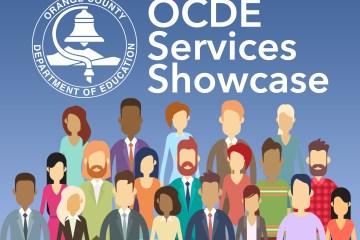 A graphic advertising the OCDE Services Showcase