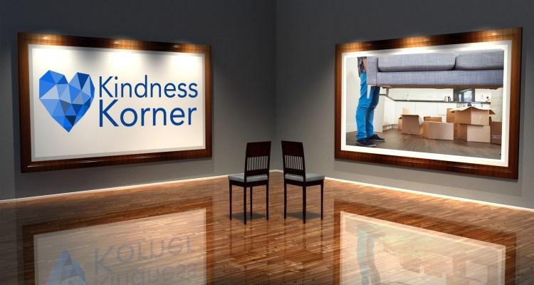 kindness korner, couch delivery