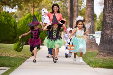 Kids on Halloween