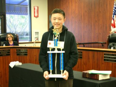 Orange County Spelling Bee winner Winston Zuo