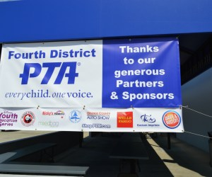 A PTA sign at Fourth District PTA's 2016 Spring Training and Exhibitor Fair