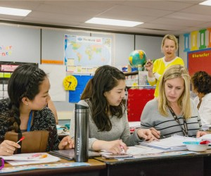 Teachers reviewing materials