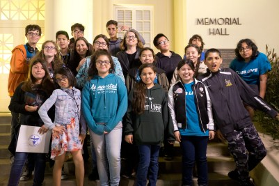 Student members of Buena Park Junior High School's Club Live