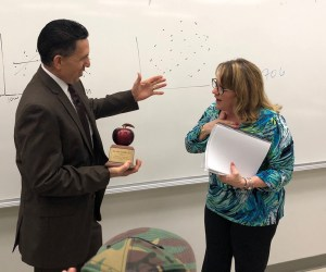 Teacher receives award from county superintendent