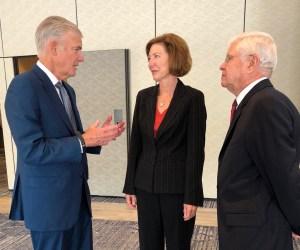 State Superintendent Tom Torlakson, Orange County Sheriff Sandra Hutchens and former California Education Secretary Dave Long
