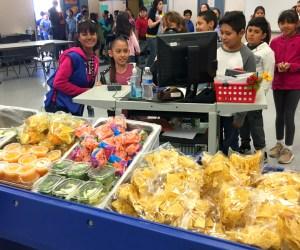 A school cafeteria