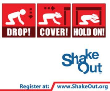 California shakeout logo