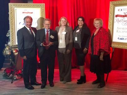 OCDE staff receiving award