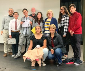 Students and staff from the Anaheim Union High School District