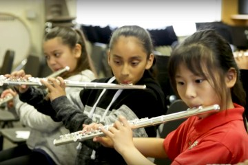 students play music instruments