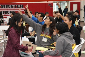 Students give a thumbs-up