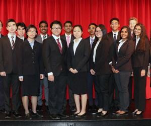 students from the woodbridge high academic decathlon team