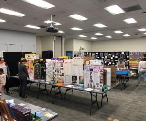 Student exhibits on display