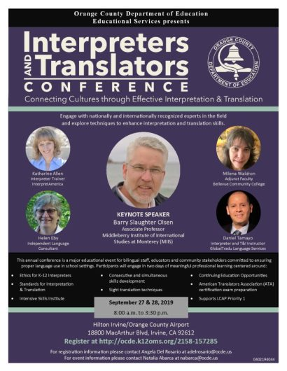 Interpreters and Translators Conference flier