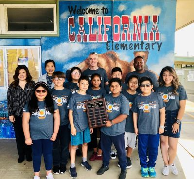 Students and staff from California Elementary School