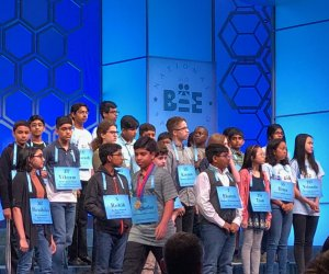 Students at spelling bee