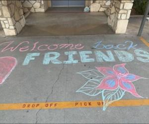 chalk art on a school walkway