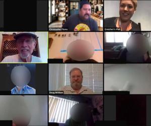 Teleconference screen shot