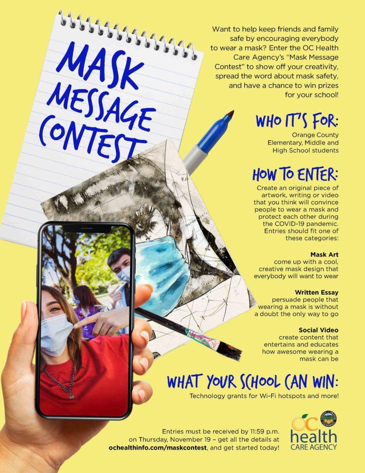 Mask Message Contest flier