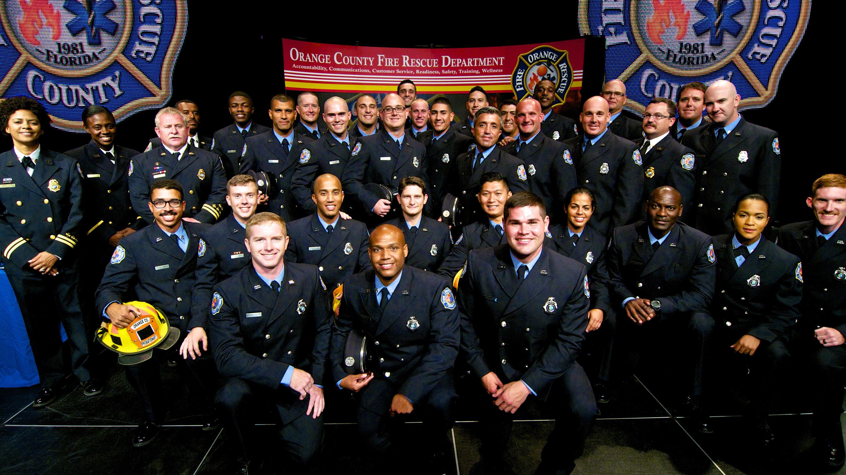 Orange County Fire Rescue Graduates New Recruit Class
