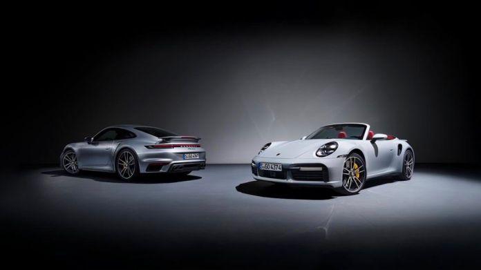 911 Turbo S, 911 Turbo S Cabriolet, l-r, 2020, Porsche AG