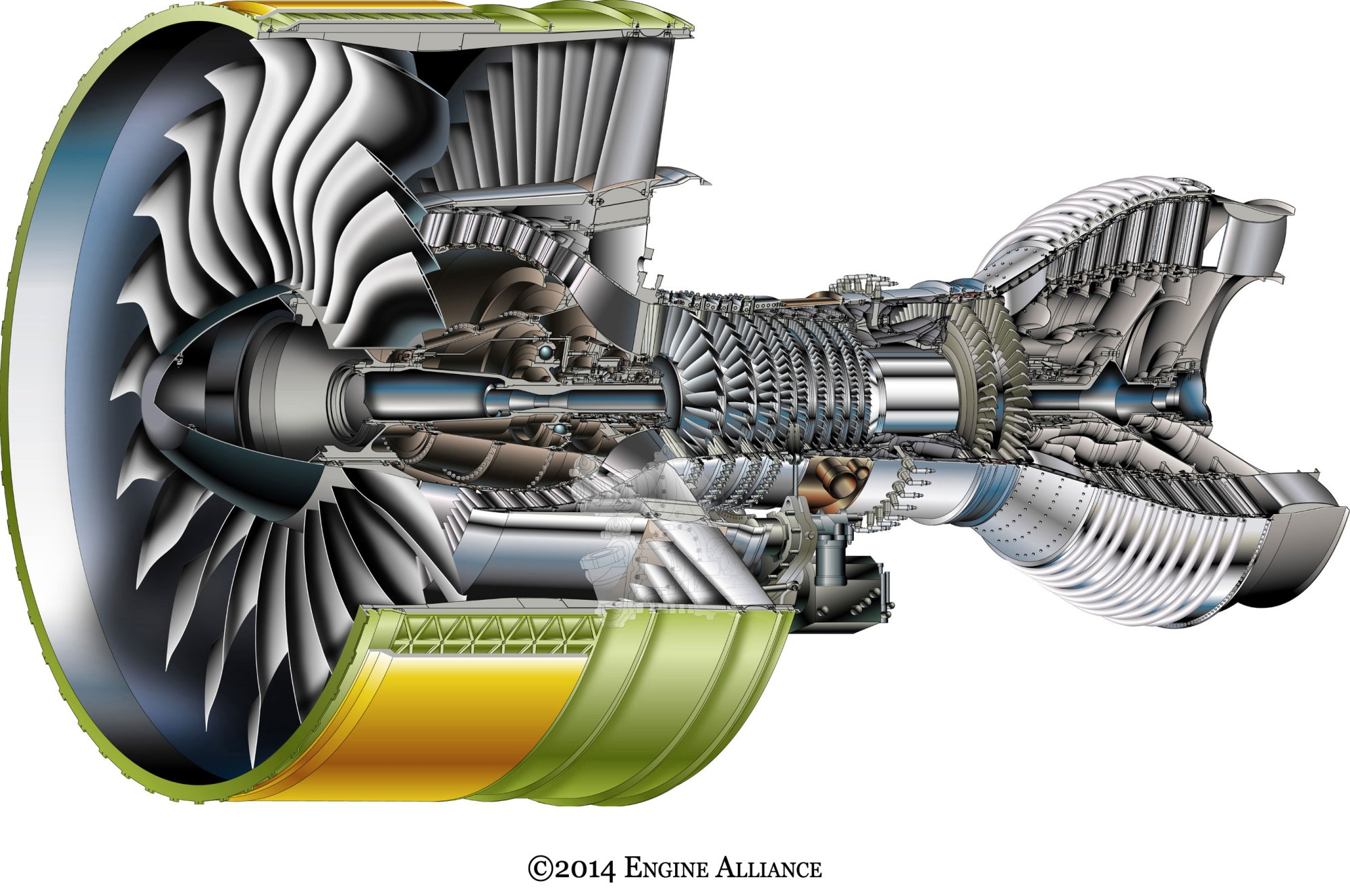 hight resolution of engine cutaway
