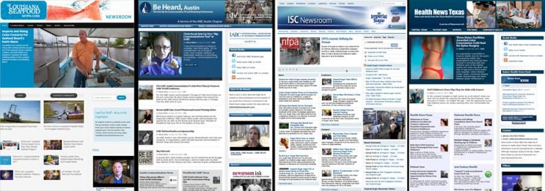BeHeardAustin.com, LouisianaSeafoodNews.com, ImperialSugarNewsroom.com, HealthNewsTexas.com