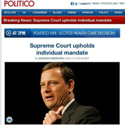 Publications such as Politico have used stories and Ideas from online newsrooms.